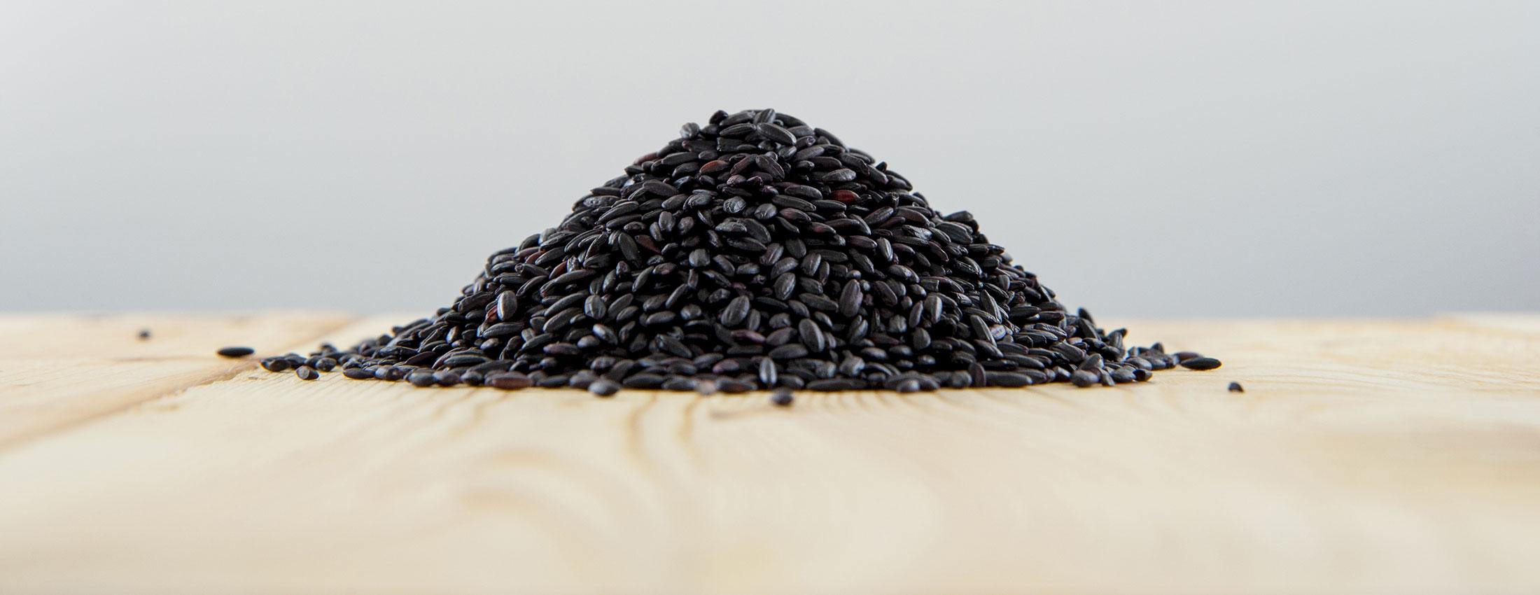 riz noir ancienne biologique chine anthocyanines antioxydants