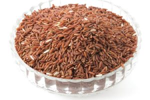 riz jasmin rouge biologique grains entiers antioxydants fibres