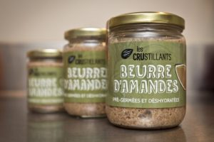 beurre amande cru deshydrate germe crustillants local